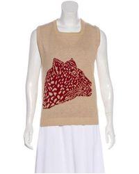 ebbb2941a59 Lyst - Givenchy Intarsia Knit Top Tan in Natural