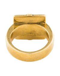Pamela Love - Metallic Amethyst Step Ring Brass - Lyst