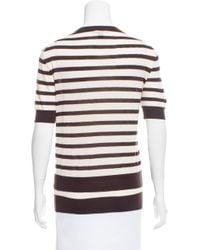 Louis Vuitton - Natural Striped Wool Top Tan - Lyst