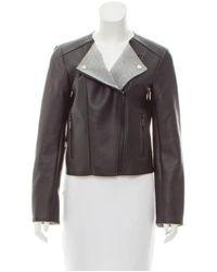 MICHAEL Michael Kors - Black Michael Kors Coated Faux-leather Jacket - Lyst