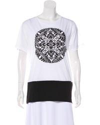 Dries Van Noten - White Graphic Short Sleeve T-shirt - Lyst