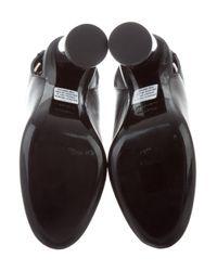 Proenza Schouler - Black Leather Slingback Pumps - Lyst