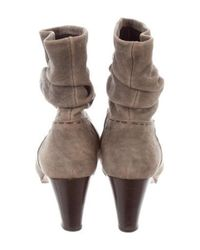 Henry Cuir - Gray Suede Ankle Boots Grey - Lyst