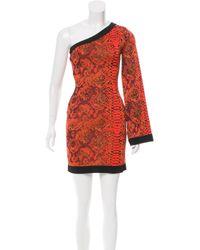 Balmain | Metallic Jacquard One-shoulder Dress W/ Tags Orange | Lyst