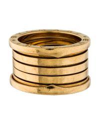 BVLGARI - Metallic B.zero1 Ring Yellow - Lyst