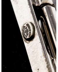 Chanel - Metallic Cc Wide Bangle Bracelet - Lyst