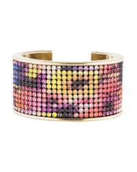 Chanel - Metallic Multicolor Crystal Cuff Gold - Lyst
