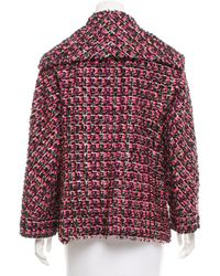 Chanel - Metallic -accented Bouclé Jacket Black - Lyst