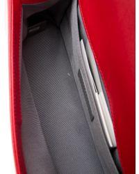 Chanel - Metallic Medium Double Stitch Boy Bag Red - Lyst