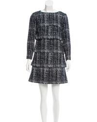 Chanel - Blue Tiered Fantasy Tweed Dress - Lyst