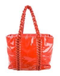 Chanel - Metallic E/w Modern Chain Tote Terracotta - Lyst