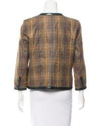 Chanel - Natural Paris-edinburgh Python-trimmed Jacket Neutrals - Lyst