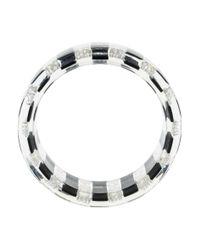 Chanel - Metallic Cc Faux Pearl Resin Bangle - Lyst