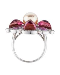 Chanel - Metallic 18k Pearl, Gemstone & Diamond Ring White - Lyst