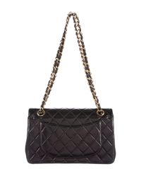 Chanel - Metallic Classic Small Double Flap Bag Black - Lyst