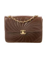 Chanel - Metallic Vintage Flap Shoulder Bag Brown - Lyst
