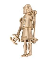 Chanel - Metallic Mademoiselle Coco Brooch Gold - Lyst