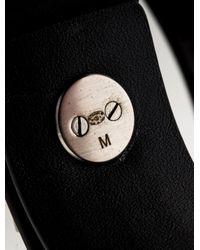 Chanel - Metallic Cc Leather Cuff Bracelet Silver - Lyst
