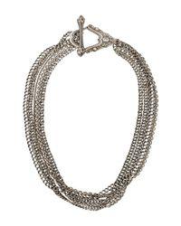 Chanel - Metallic Cc Multi-strand Bracelet - Lyst