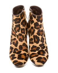 Dior - Brown Ponyhair Ankle Boots - Lyst