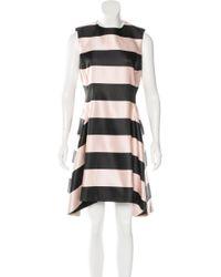 Dior - Pink Silk Striped Dress - Lyst