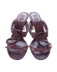 Dior - Purple Embellished Multistrap Sandals - Lyst