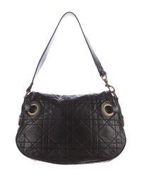 Dior | Black Cannage Leather Shoulder Bag | Lyst