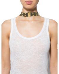 Dior | Metallic Logo Choker Necklace Green | Lyst