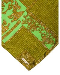 Dior - Green Silk Abstract Scarf Olive - Lyst