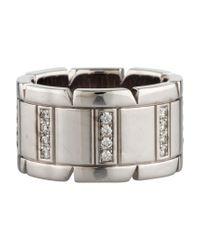 Cartier | Metallic Diamond Tank Francaise Band White | Lyst