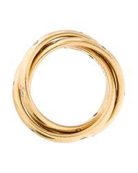 Cartier - Metallic Diamond Classic Trinity De Rolling Ring Yellow - Lyst