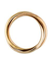 Cartier - Metallic Les Must De Trinity Ring Yellow - Lyst