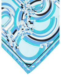 Emilio Pucci - Blue Woven Abstract Scarf - Lyst