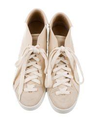 Giuseppe Zanotti - Metallic Leather High-top Sneakers Tan - Lyst