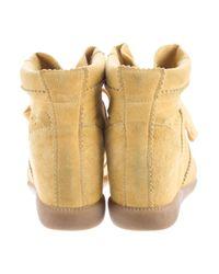 Isabel Marant - Metallic Bobby Wedge Sneakers Silver - Lyst