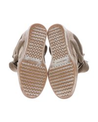 Isabel Marant Green Bekett Suede High-Top Wedge Sneakers