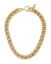 Isabel Marant | Metallic Curb Link Necklace Gold | Lyst