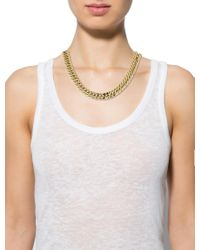 Isabel Marant - Metallic Curb Link Necklace Gold - Lyst