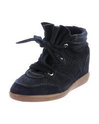 Isabel Marant | Gray Bobby Suede Sneaker | Lyst