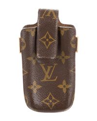 Louis Vuitton   Natural Monogram Phone Case Brown   Lyst