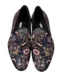 Louis Vuitton - Metallic Garden In Hell Embroidered Talisman Loafers Blue - Lyst
