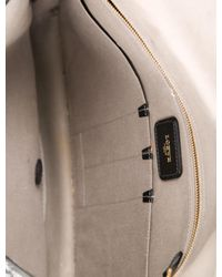 Loewe - Metallic Logo Leather-trimmed Messenger Black for Men - Lyst