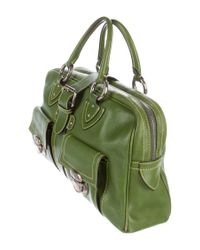 Marc Jacobs - Metallic Leather Venetia Handle Bag Lime - Lyst