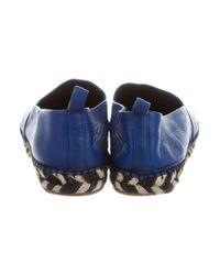Proenza Schouler - Blue Leather Espadrille Flats - Lyst