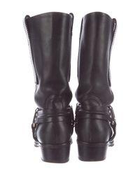 Proenza Schouler - Metallic Harness Leather Boots Black - Lyst