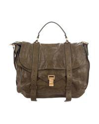 Proenza Schouler - Green Leather Ps1 Satchel for Men - Lyst