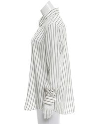 The Row - Gray Peter Silk Top W/ Tags Grey - Lyst