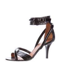 Givenchy - Black Alligator Multistrap Sandals - Lyst