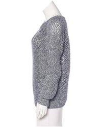 Vanessa Bruno Athé - Blue Open Knit Sweater W/ Tags - Lyst