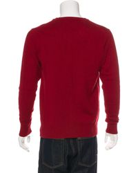 CALVIN KLEIN 205W39NYC - Red Wool-blend V-neck Sweater for Men - Lyst